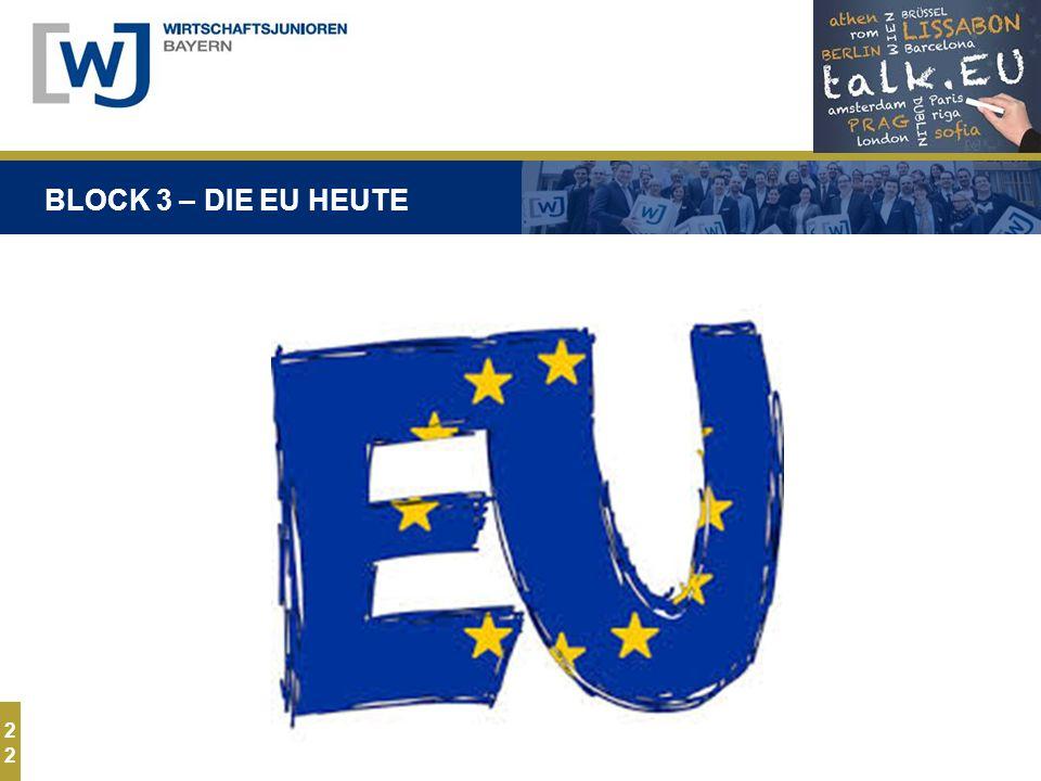 2 BLOCK 3 – DIE EU HEUTE