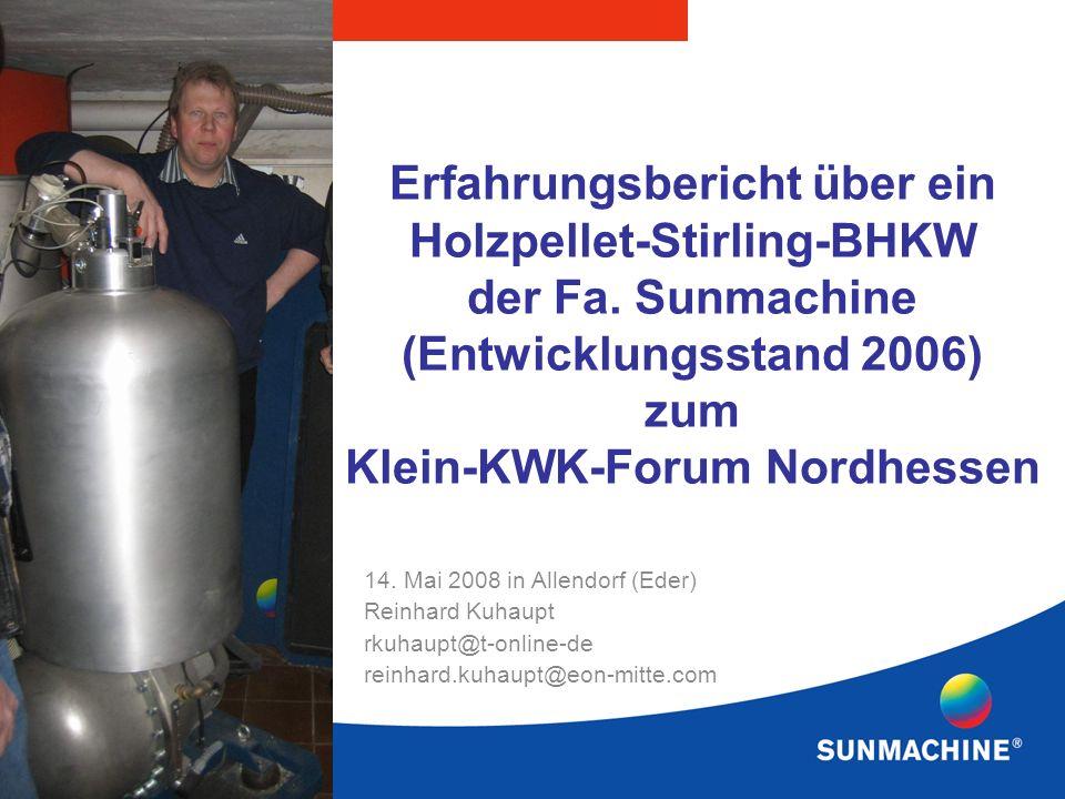 Erfahrungsbericht über ein Holzpellet-Stirling-BHKW der Fa.