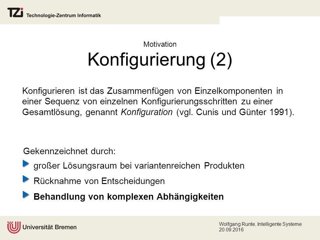 Wolfgang Runte, Intelligente Systeme 20.09.2016 Übersicht Motivation Problemstellung Lösungsansatz Analyse bestehender Verfahren Konzeption eines Frameworks Validierung Zusammenfassung