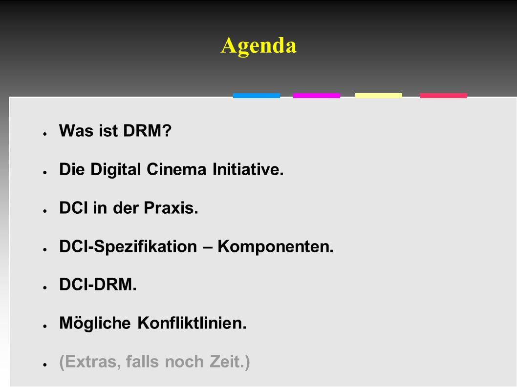 Informatik & Gesellschaft - TU Berlin – 2005 - DCI-Sicherheit/DRM 5 Film wird nicht abgespielt werden A.am falschen Ort; B.zur falschen Zeit; C.mit nicht (mehr) autorisierten Geräten; D.bei Versagen oder Manipulation der Geräte.