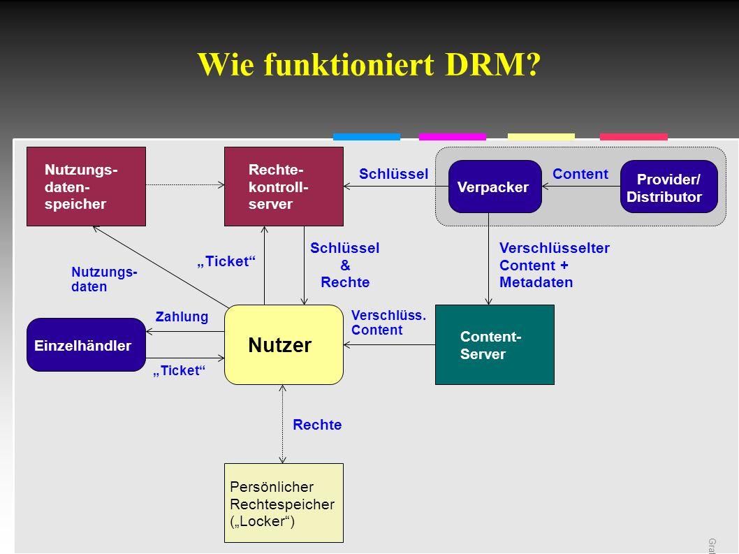 Informatik & Gesellschaft - TU Berlin – 2005 - Referenzen Homepage der Digital Cinema Initiative:.http://www.dcimovies.com/ Homepage des Autors:.http://ig.cs.tu-berlin.de/ma/rg/ap Die Rechte an den Grafiken aus der DCI-Spezifikation liegen bei deren Urhebern.