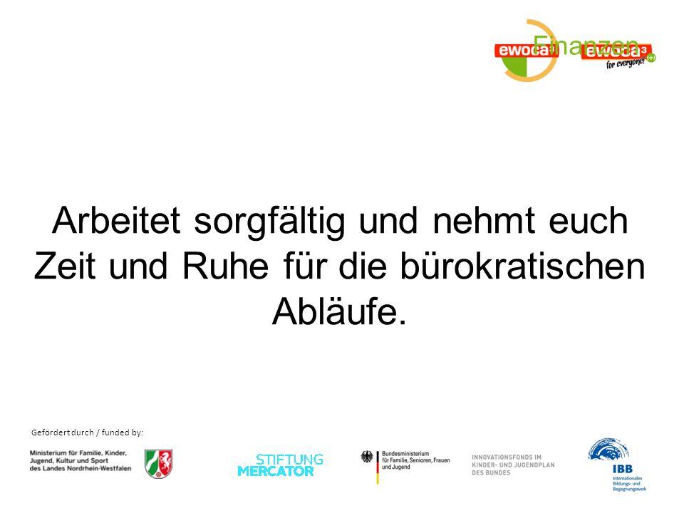 Gefördert durch / funded by: Notfälle......seid vorbereitet!