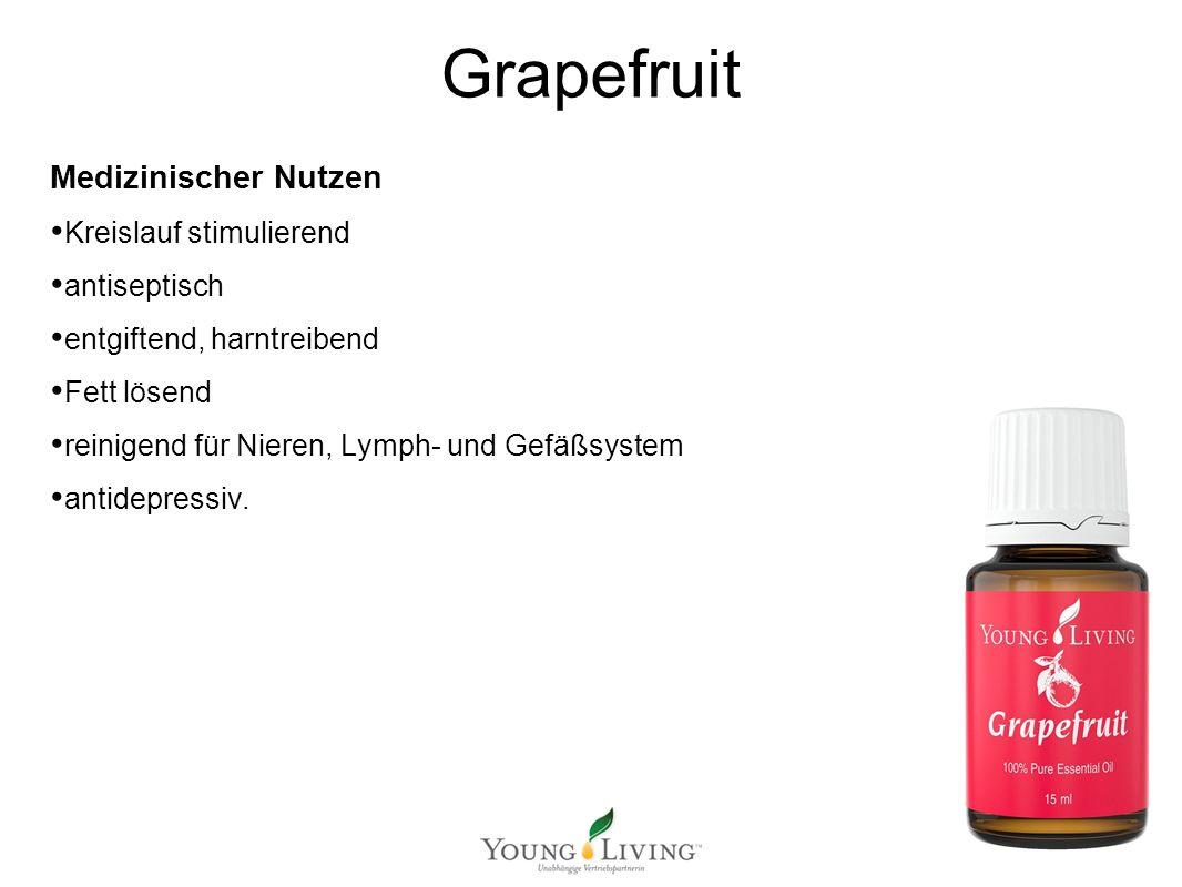 Innere Reinigung nach den 5 Wandlungsphasen Mit ätherischen Ölen von Young Living Grapefruit Medizinischer Nutzen Kreislauf stimulierend antiseptisch entgiftend, harntreibend Fett lösend reinigend für Nieren, Lymph- und Gefäßsystem antidepressiv.
