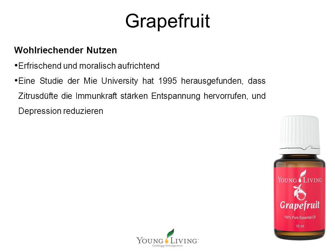 Innere Reinigung nach den 5 Wandlungsphasen Mit ätherischen Ölen von Young Living Grapefruit Wohlriechender Nutzen Erfrischend und moralisch aufrichte