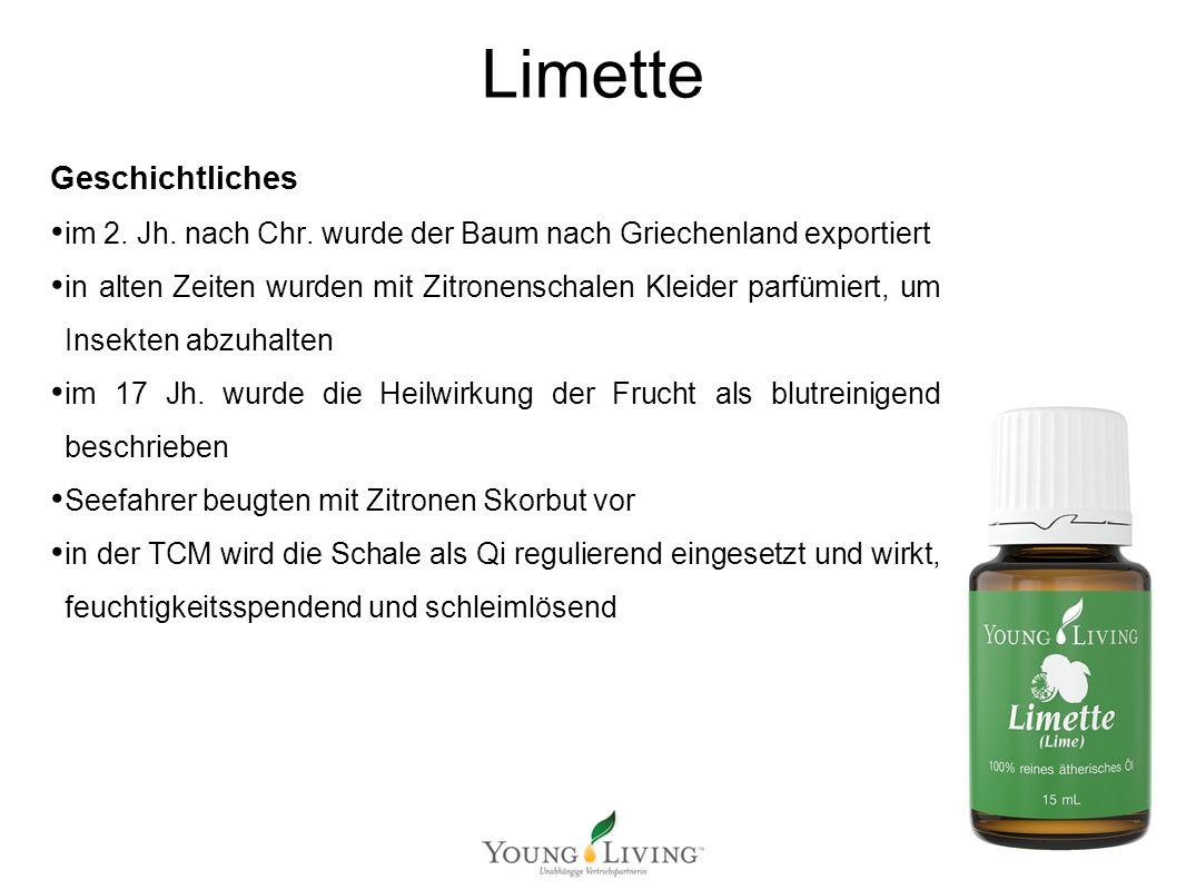 Innere Reinigung nach den 5 Wandlungsphasen Mit ätherischen Ölen von Young Living Limette Geschichtliches im 2. Jh. nach Chr. wurde der Baum nach Grie
