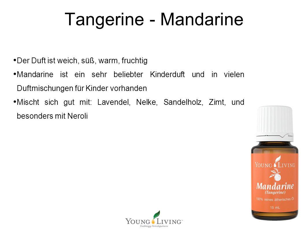 Innere Reinigung nach den 5 Wandlungsphasen Mit ätherischen Ölen von Young Living Tangerine - Mandarine Der Duft ist weich, süß, warm, fruchtig Mandar