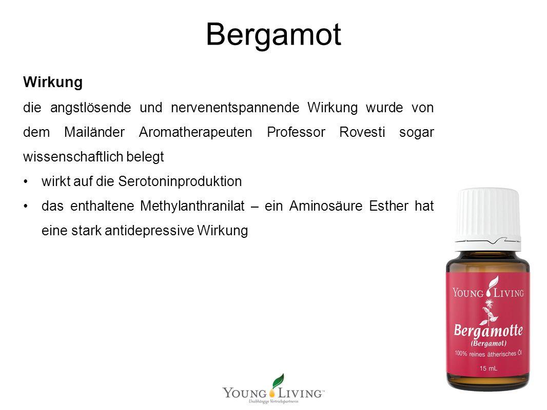 Innere Reinigung nach den 5 Wandlungsphasen Mit ätherischen Ölen von Young Living Bergamot Wirkung die angstlösende und nervenentspannende Wirkung wur