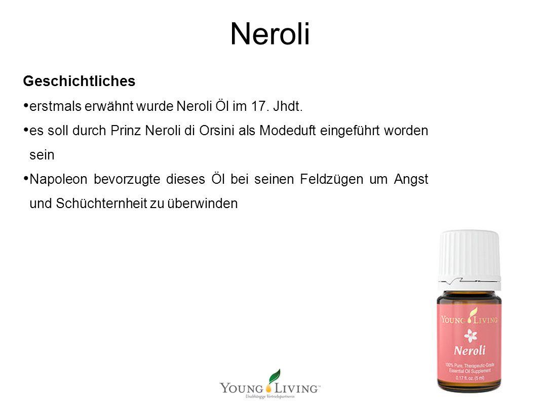 Innere Reinigung nach den 5 Wandlungsphasen Mit ätherischen Ölen von Young Living Neroli Geschichtliches erstmals erwähnt wurde Neroli Öl im 17. Jhdt.