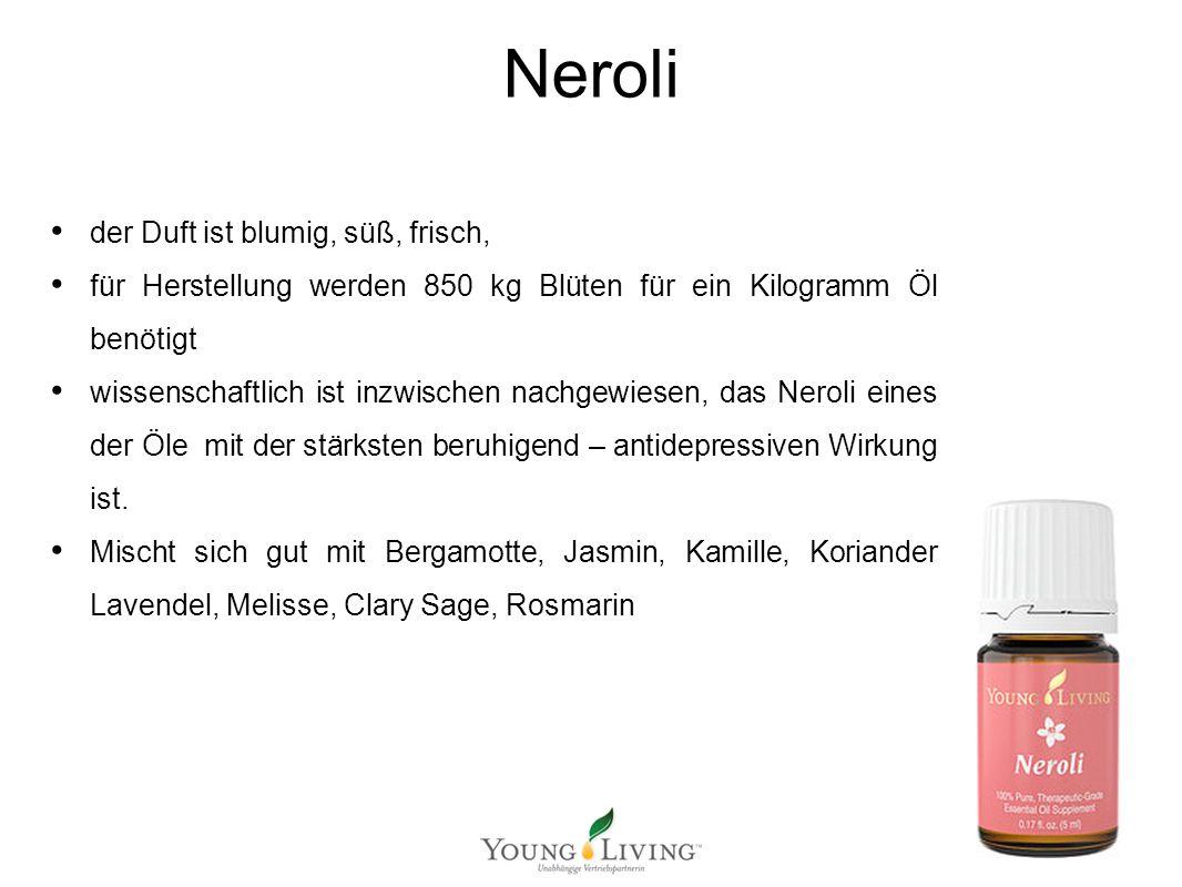 Innere Reinigung nach den 5 Wandlungsphasen Mit ätherischen Ölen von Young Living Neroli der Duft ist blumig, süß, frisch, für Herstellung werden 850
