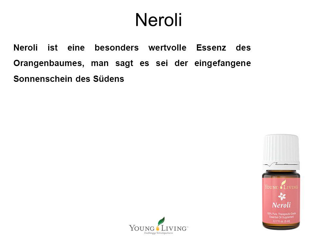 Innere Reinigung nach den 5 Wandlungsphasen Mit ätherischen Ölen von Young Living Neroli Neroli ist eine besonders wertvolle Essenz des Orangenbaumes, man sagt es sei der eingefangene Sonnenschein des Südens