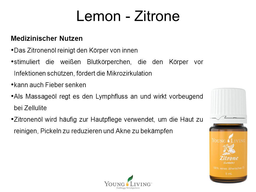 Innere Reinigung nach den 5 Wandlungsphasen Mit ätherischen Ölen von Young Living Lemon - Zitrone Medizinischer Nutzen Das Zitronenöl reinigt den Körp