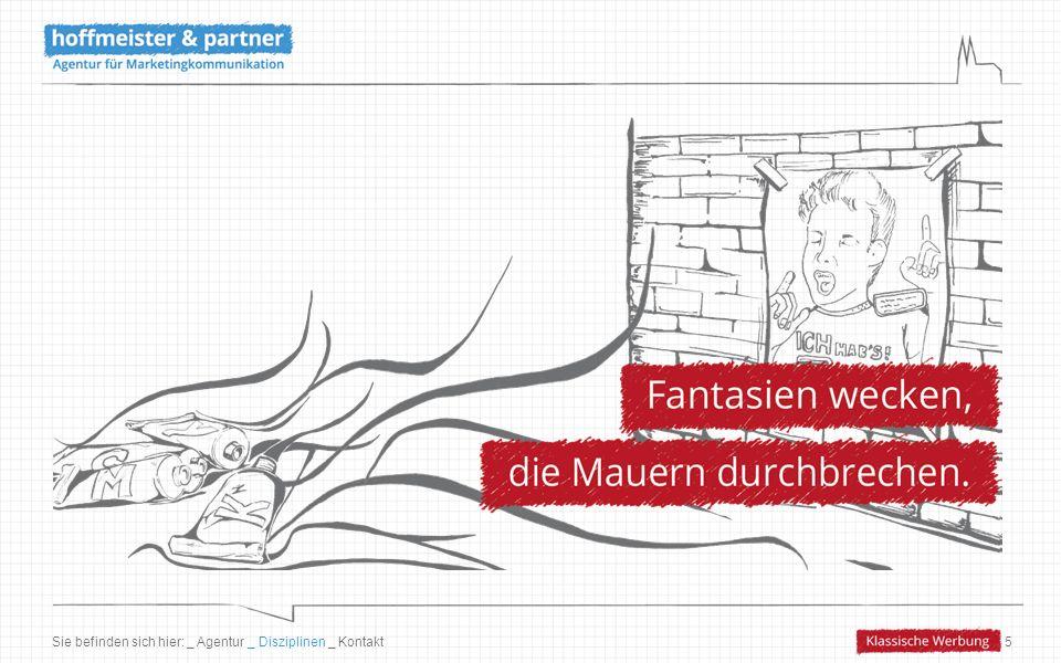 16 Deutsche Bahn – Minigame Ziel Schaffung von Entertainment-Mehrwerten in der Ziel- gruppe der 14- bis 17-Jährigen bei Besuch der Online- Präsenz sowie während der Bus- und Bahnfahrt für sechs Tochterunternehmen der DB (Regional- und Fernbus) Konsequenz Adaption und Weiterentwicklung des Minigames als Modul für die Unternehmenswebsites sowie als Mobile- Game Leistung Konzeption, Gestaltung und Programmierung des Minigames für die Plattformen Flash, iOS und Android sowie Realisierung flankierender Kommunikations- maßnahmen zur Bekanntmachung Ergebnis 11.500 Spiele und 3.450 Mobile-Downloads in den ersten beiden Wochen (unternehmensübergreifend) Sie befinden sich hier: _ Agentur _ Disziplinen _ Kontakt