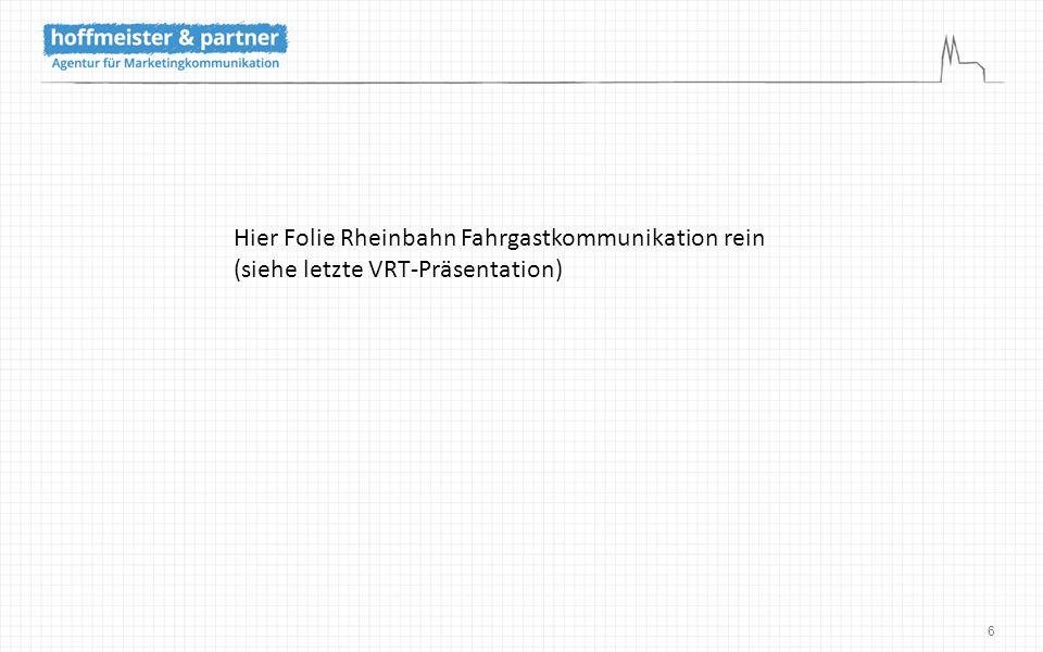 17 VRT – Minigame Ziel Steigerung der Facebook-Nutzerzahlen Konsequenz Core-Erweiterung des bestehenden Minigames und Überführung der Nutzer zur Facebook-Version durch eine Mehr-Level-Strategie Leistung Konzeption, Gestaltung und Programmierung des Minigames für die Plattformen Flash, Facebook, iOS und Android sowie Realisierung flankierender Kommunikationsmaßnahmen zur Bekanntmachung Ergebnis 5.500 Facebook-Aufrufe in den ersten beiden Wochen Sie befinden sich hier: _ Agentur _ Disziplinen _ Kontakt