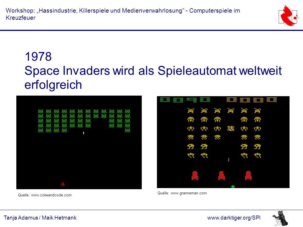 """Tanja Adamus / Maik Hetmankwww.darktiger.org/SPI Workshop: """"Hassindustrie, Killerspiele und Medienverwahrlosung"""" - Computerspiele im Kreuzfeuer 1978 S"""