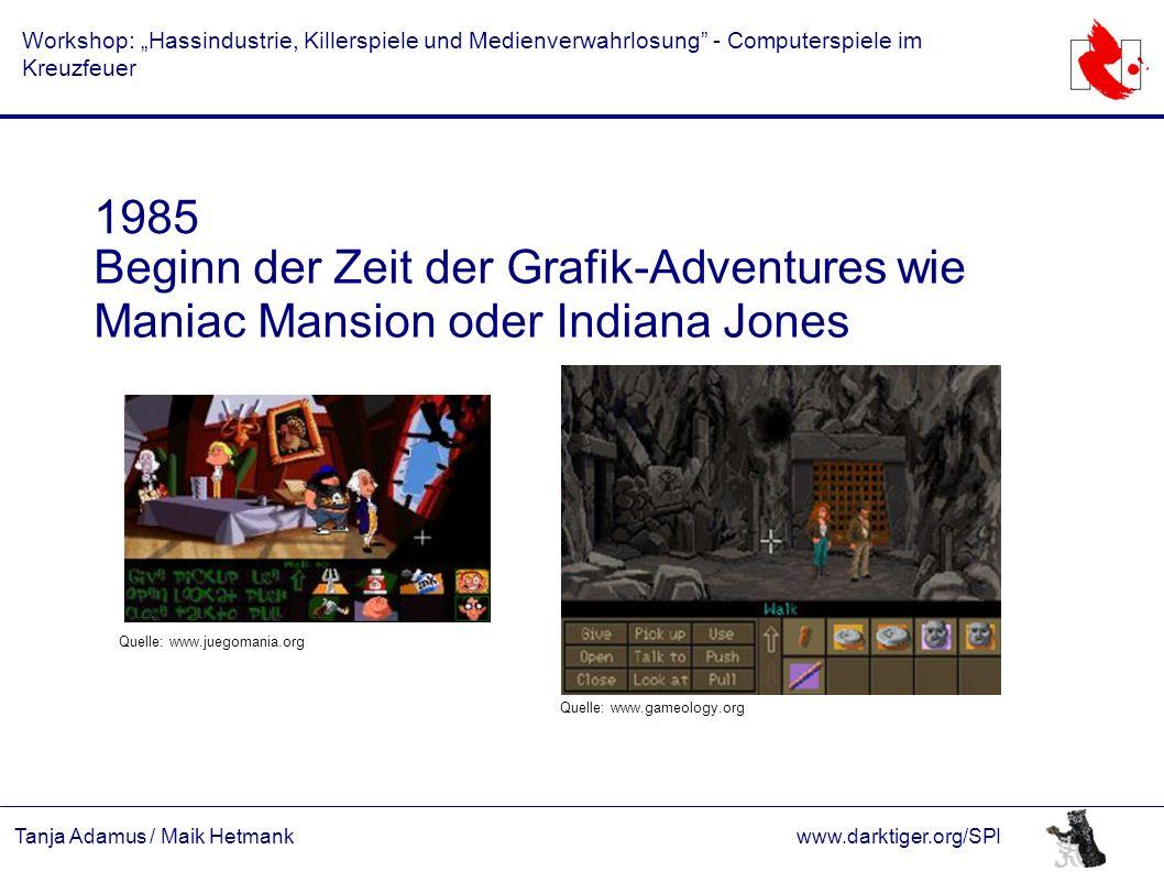 """Tanja Adamus / Maik Hetmankwww.darktiger.org/SPI Workshop: """"Hassindustrie, Killerspiele und Medienverwahrlosung"""" - Computerspiele im Kreuzfeuer 1985 B"""
