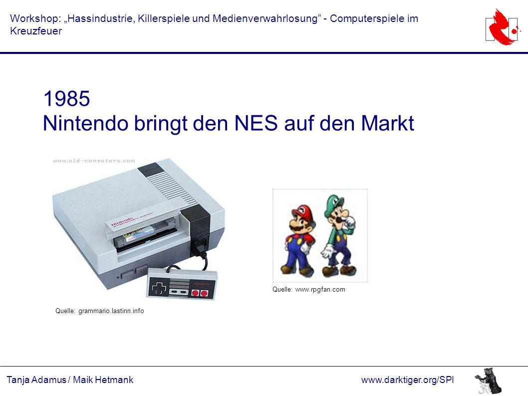 "Tanja Adamus / Maik Hetmankwww.darktiger.org/SPI Workshop: ""Hassindustrie, Killerspiele und Medienverwahrlosung"" - Computerspiele im Kreuzfeuer 1985 N"