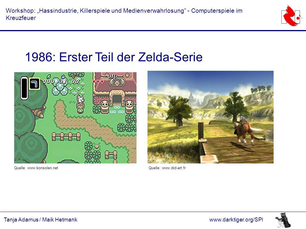 """Tanja Adamus / Maik Hetmankwww.darktiger.org/SPI Workshop: """"Hassindustrie, Killerspiele und Medienverwahrlosung"""" - Computerspiele im Kreuzfeuer 1986:"""
