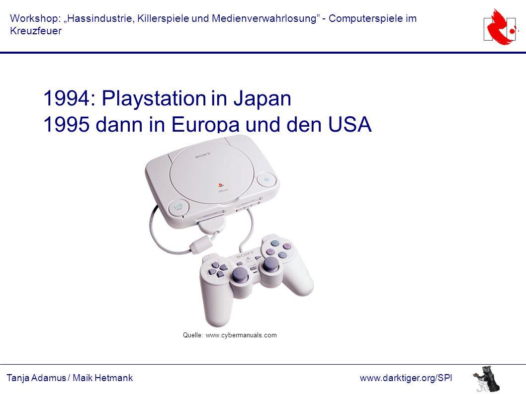 """Tanja Adamus / Maik Hetmankwww.darktiger.org/SPI Workshop: """"Hassindustrie, Killerspiele und Medienverwahrlosung"""" - Computerspiele im Kreuzfeuer 1994:"""