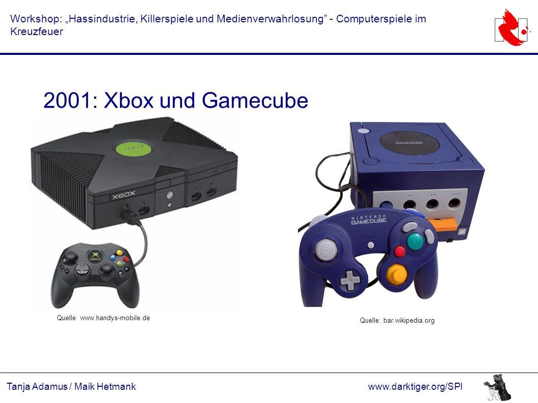 """Tanja Adamus / Maik Hetmankwww.darktiger.org/SPI Workshop: """"Hassindustrie, Killerspiele und Medienverwahrlosung"""" - Computerspiele im Kreuzfeuer 2001:"""