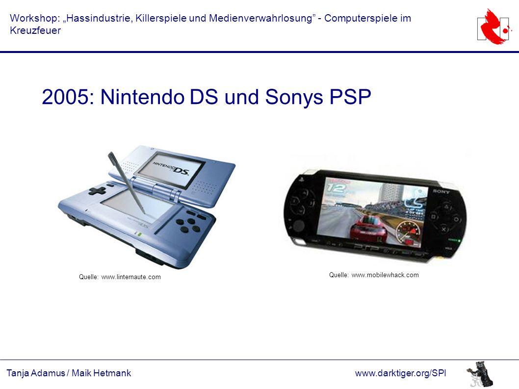 """Tanja Adamus / Maik Hetmankwww.darktiger.org/SPI Workshop: """"Hassindustrie, Killerspiele und Medienverwahrlosung"""" - Computerspiele im Kreuzfeuer 2005:"""