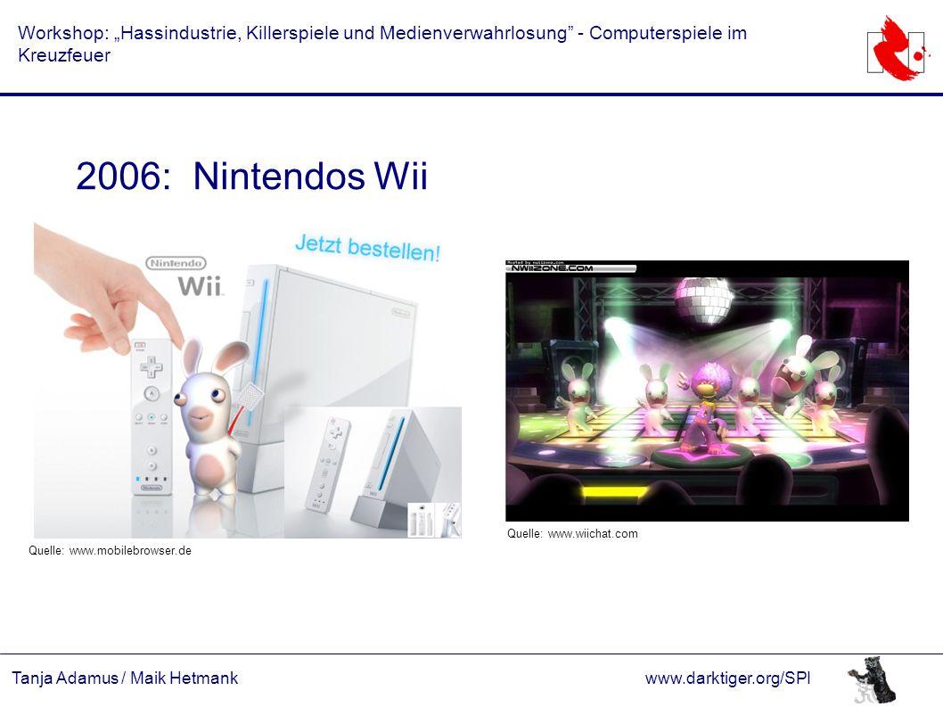 """Tanja Adamus / Maik Hetmankwww.darktiger.org/SPI Workshop: """"Hassindustrie, Killerspiele und Medienverwahrlosung"""" - Computerspiele im Kreuzfeuer 2006:"""