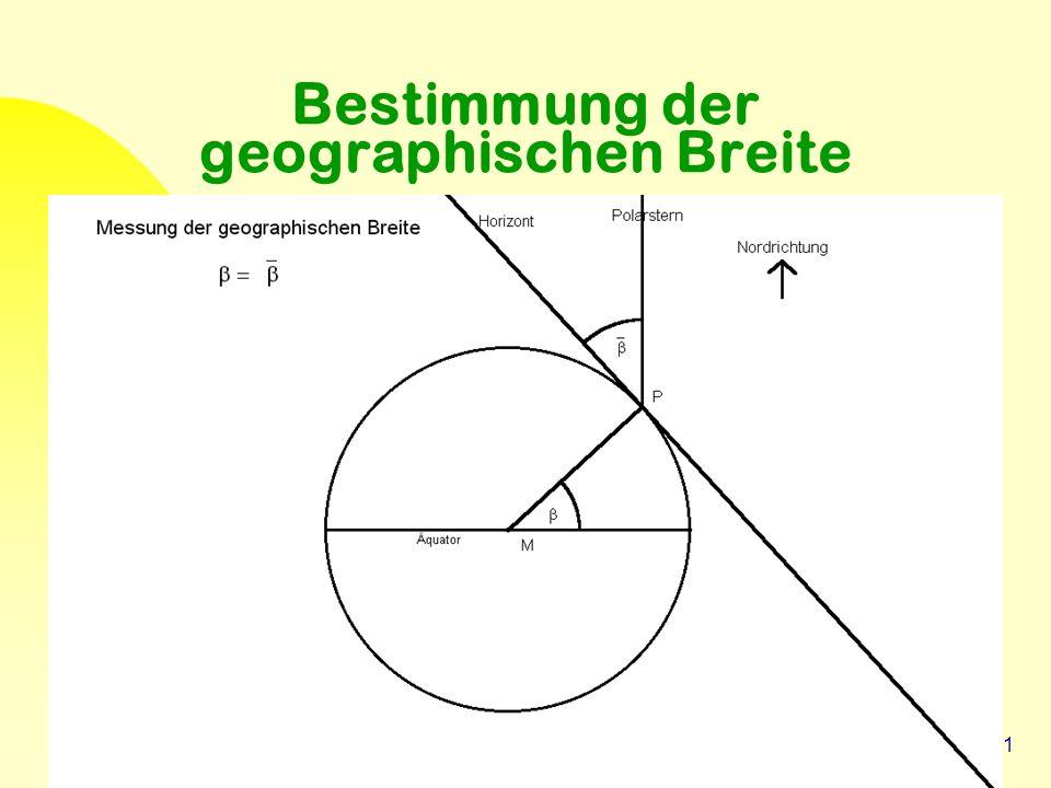 31 Bestimmung der geographischen Breite