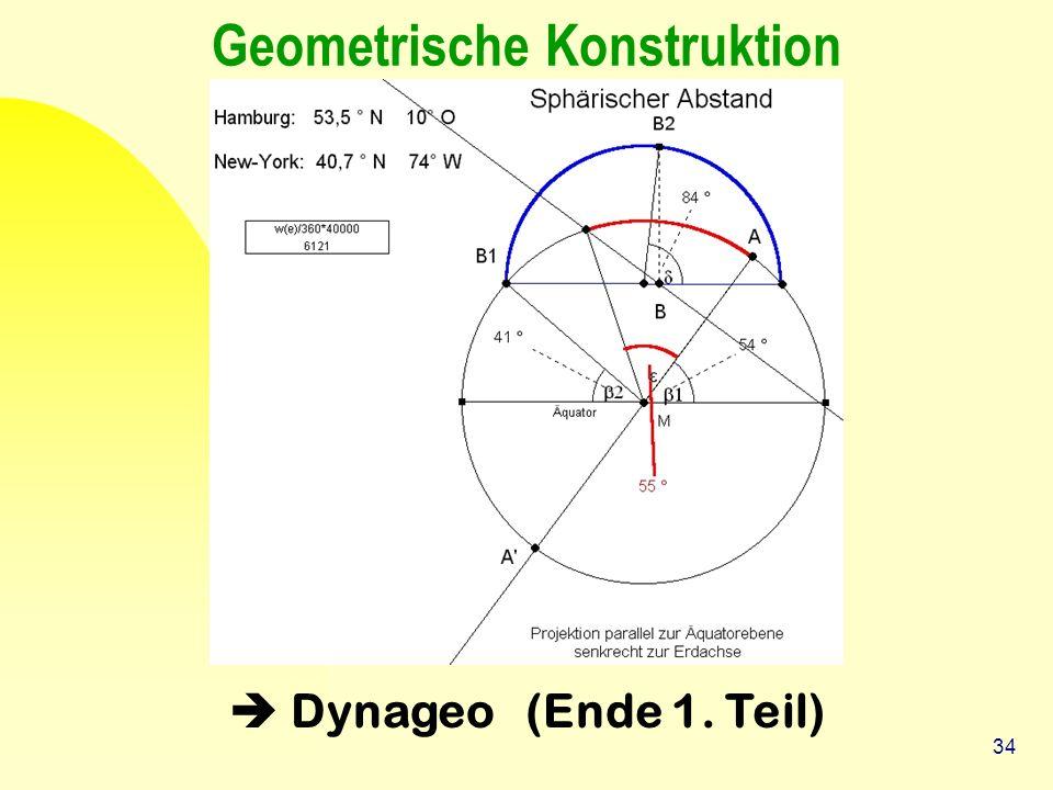 34 Geometrische Konstruktion  Dynageo (Ende 1. Teil)