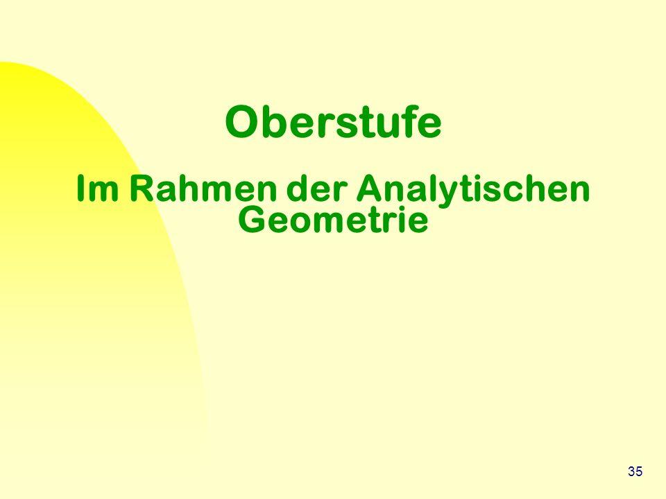 35 Oberstufe Im Rahmen der Analytischen Geometrie