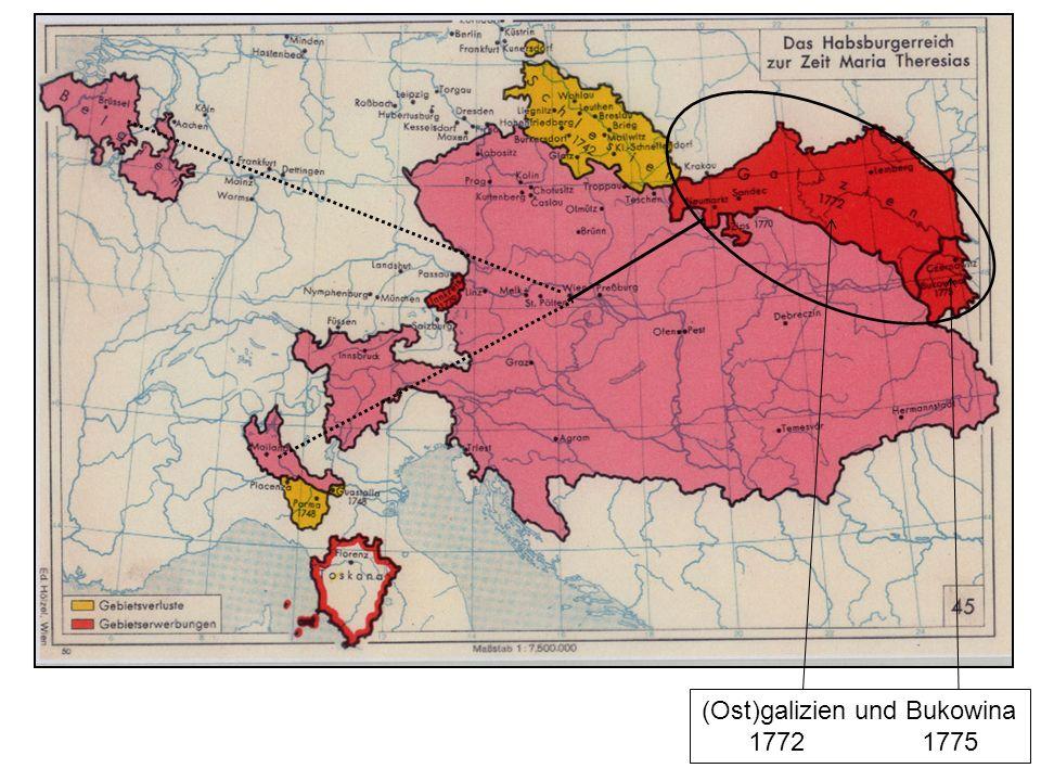 (Ost)galizien und Bukowina 1772 1775
