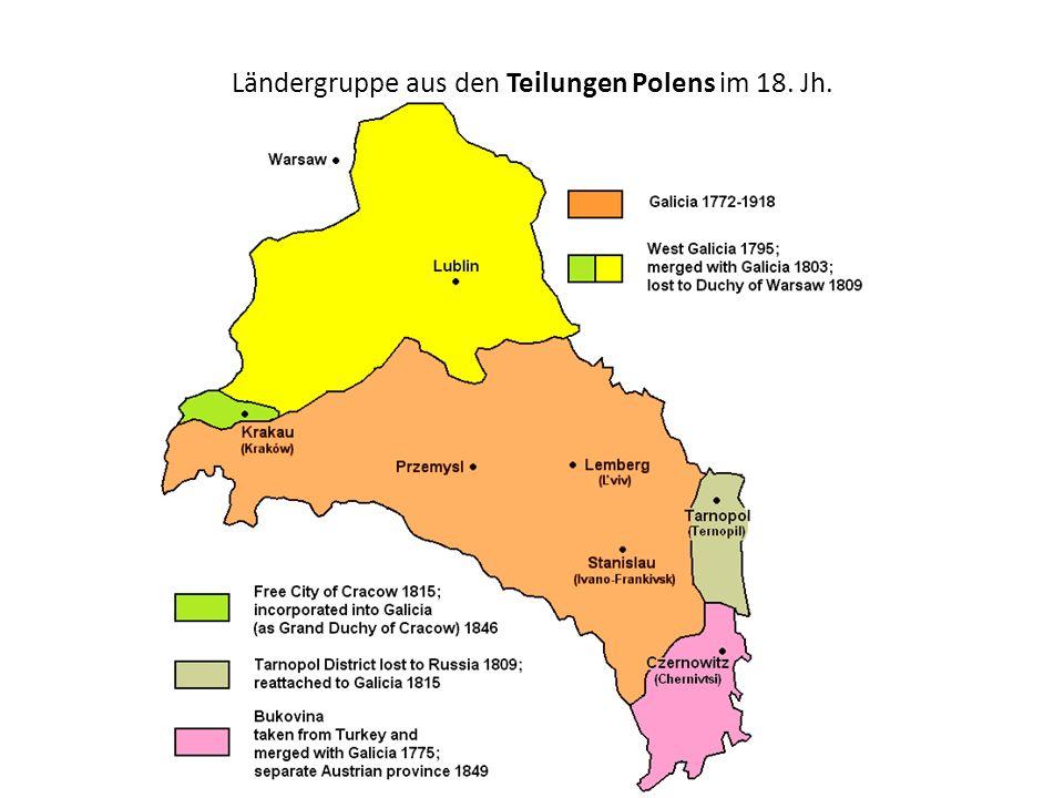 Ländergruppe aus den Teilungen Polens im 18. Jh.