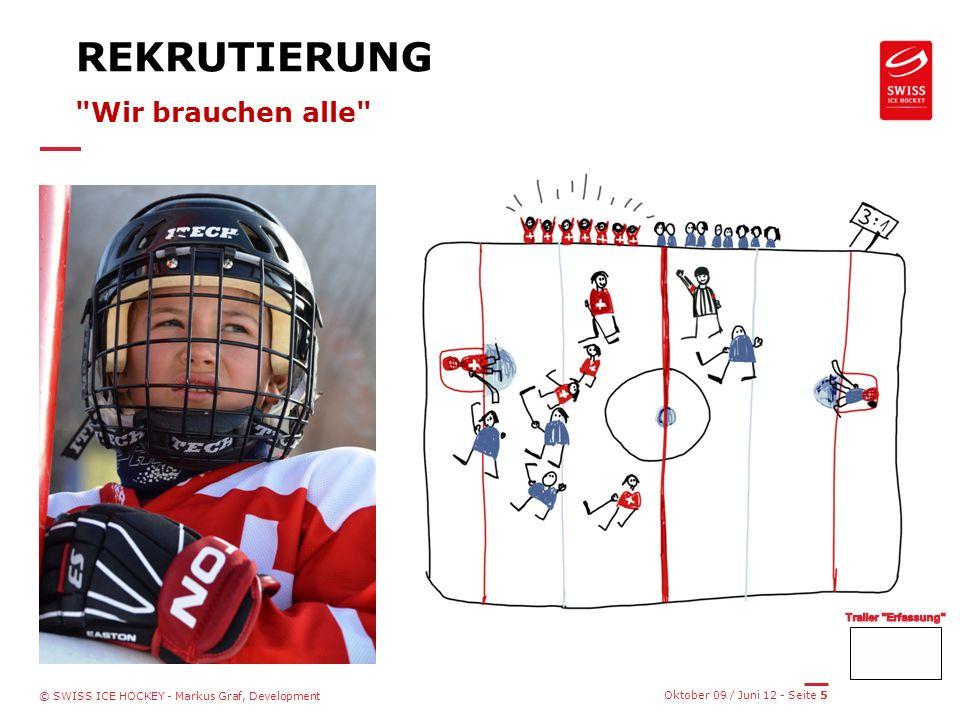Oktober 09 / Juni 12 - Seite 5 © SWISS ICE HOCKEY - Markus Graf, Development REKRUTIERUNG Wir brauchen alle
