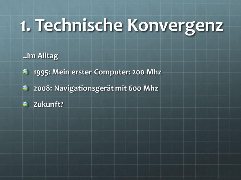..im Alltag 1995: Mein erster Computer: 200 Mhz 2008: Navigationsgerät mit 600 Mhz Zukunft.