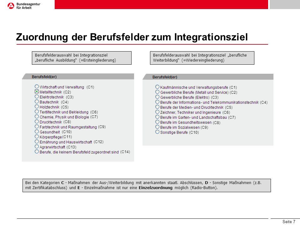 Seite 18 Suche und Sortierung von Abrechnungsdaten Suchfelder zur Maßnahmesuche Listenanzeige mit Sortiermöglichkeiten Sprung zu den Maßnahme-Abrechnungsdaten