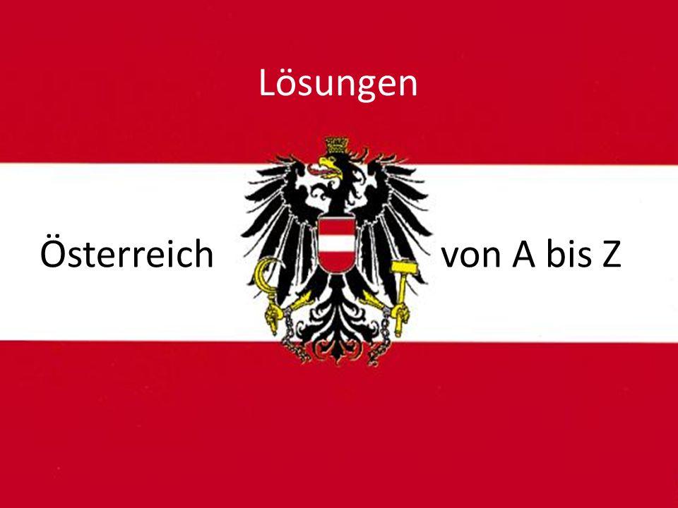 Österreich von A bis Z Lösungen