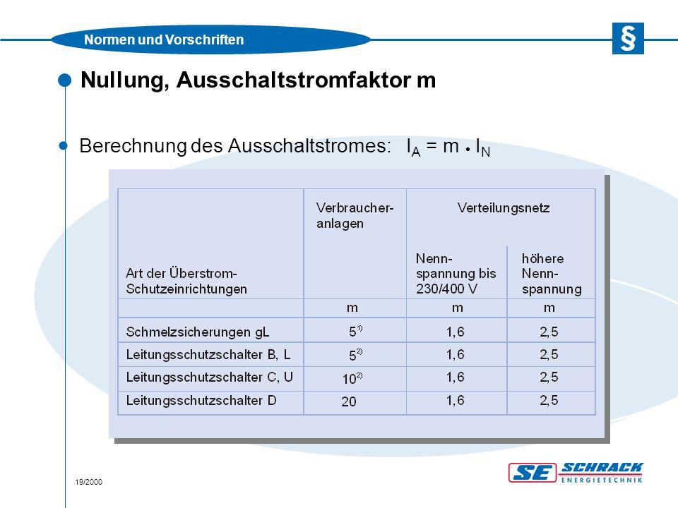 """Normen und Vorschriften 20/2000 Nullung, Erdungsbedingung · Verbraucheranlagen müssen eine dauerhafte (korrosions- beständige) Anlagenerdung aufweisen  Kein Fundamenterder  Errichtung einer Erdungsanlage Mindestmaße (V4A):Horizontalerder 10 m oder Vertikalerder 4,5 m oder gleichwertige Erderkombination · Dimensionierungen in der ÖNORM/ÖVE E 8001-1 Abschnitt 20 """"Erdung Tabelle 20-2"""