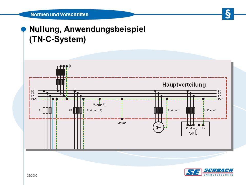 Normen und Vorschriften 24/2000 Nullung, Anwendungsbeispiel (TN-C-S-System)