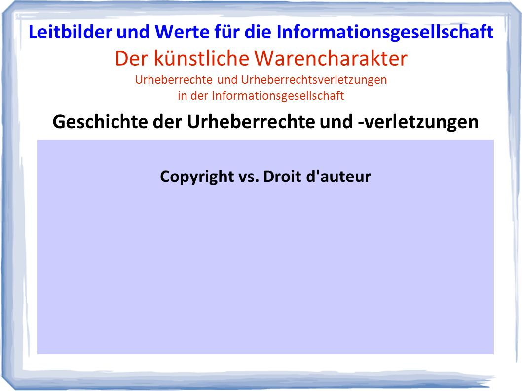 Copyright vs.