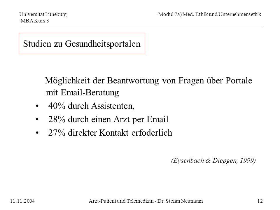 Universität Lüneburg Modul 7a) Med.