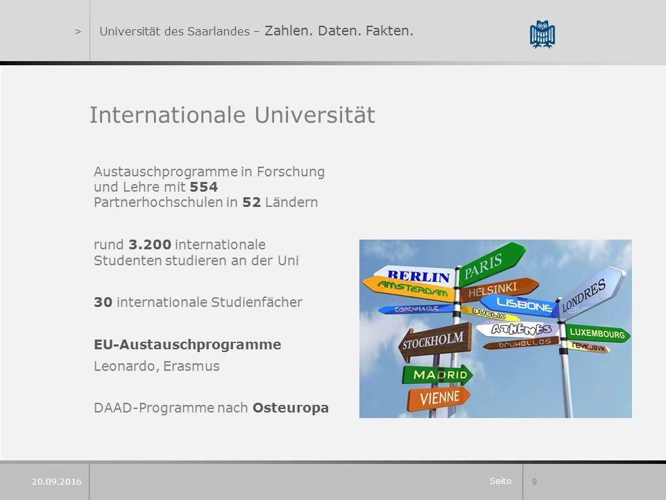 Seite 9 20.09.2016 >Universität des Saarlandes – Zahlen.