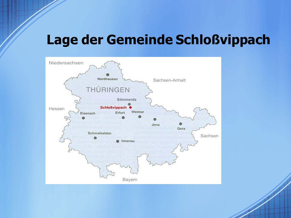 Lage der Gemeinde Schloßvippach