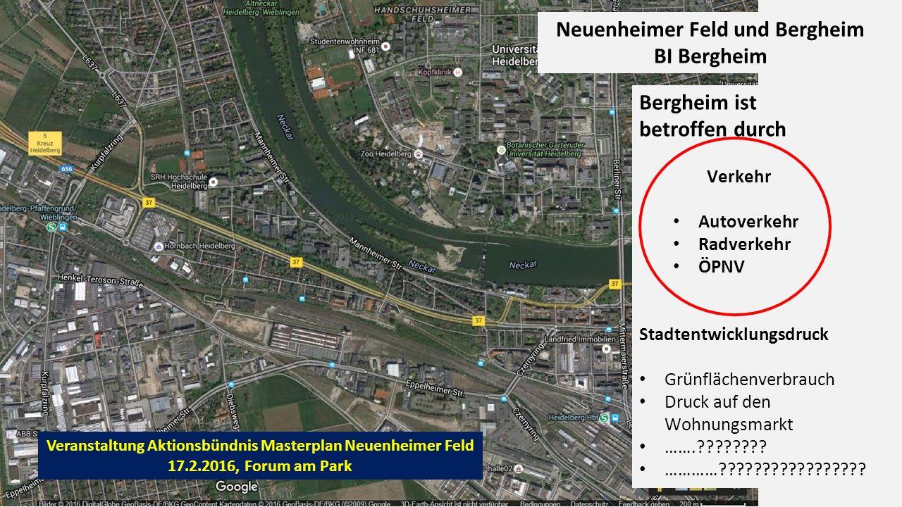 Radverkehr: Knotenpunkt am Neckar Flächenverbrauch in Bergheim 5.