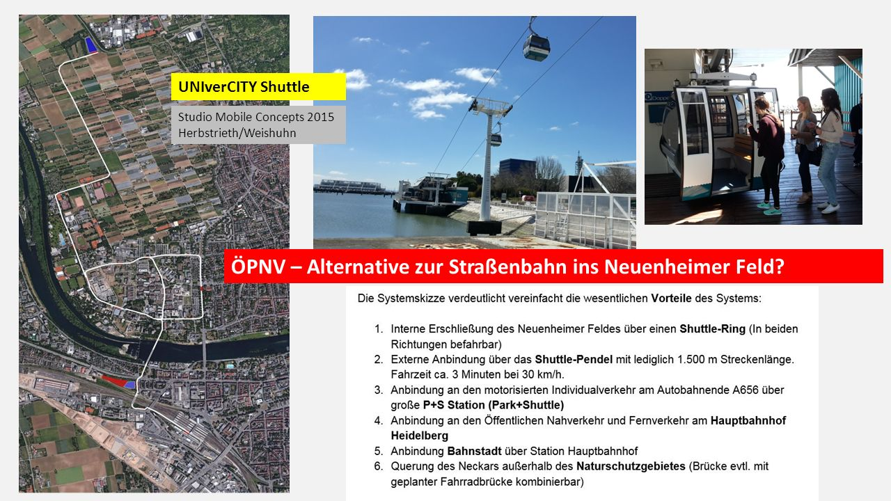 ÖPNV – Alternative zur Straßenbahn ins Neuenheimer Feld.