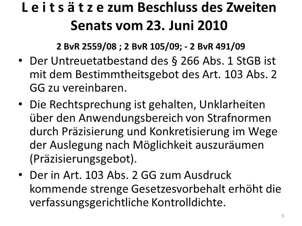 Stellungnahmen GBA PräsBGH – Äußerungen Senatsvorsitz BReg (-) GBA Rn.