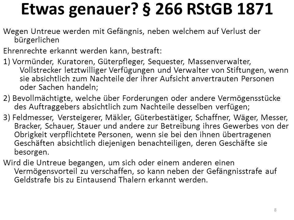 TreubruchTB Treueverhältnis: Gesetz, behördl Auftrg, RechtsGesch (vgl.