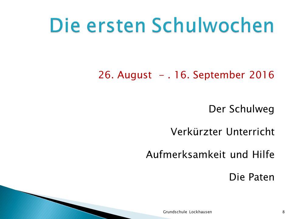 Die Klasse Der Stundenplan Die Zeugnisse Grundschule Lockhausen9
