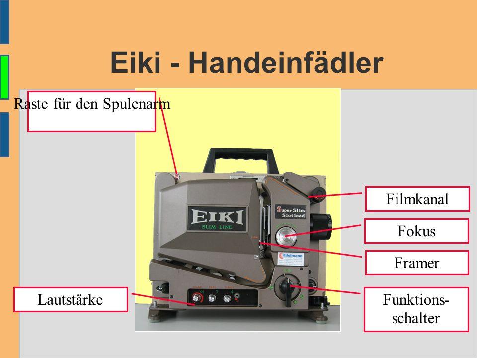 Eiki - Handeinfädler Framer Funktions- schalter Fokus Filmkanal Raste für den Spulenarm Lautstärke