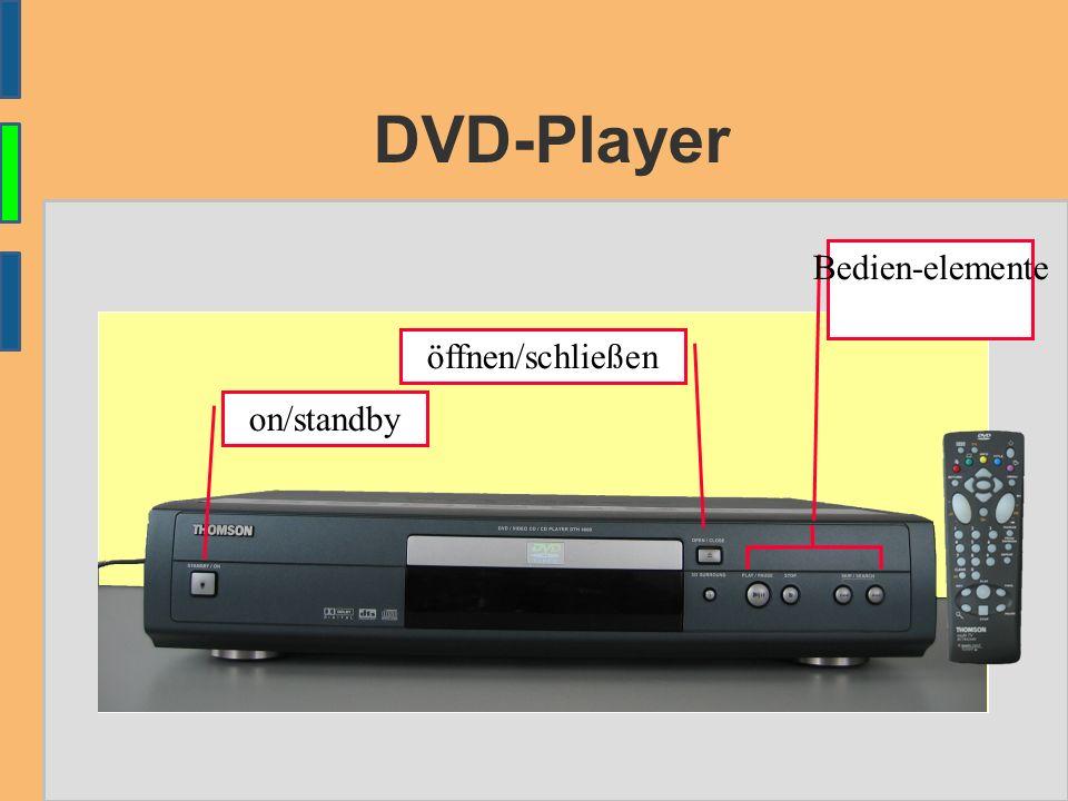 DVD-Player öffnen/schließen on/standby Bedien-elemente