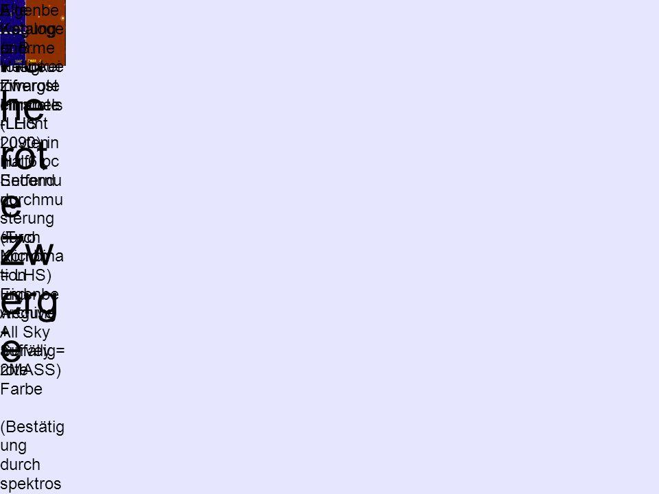 Su ch- We rkz eu ge für na he rot e Zw erg e Entdeck ung eines roten Zwergst erns (LHS 2090) in nur 6 pc Entfernu ng durch Kombina tion Eigenbe wegung