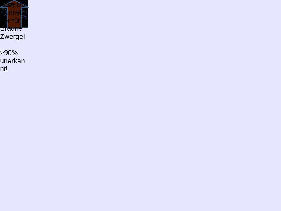 +Ba, Bbhohe Dunkelzi ffer für Braune Zwerge! >90% unerkan nt!