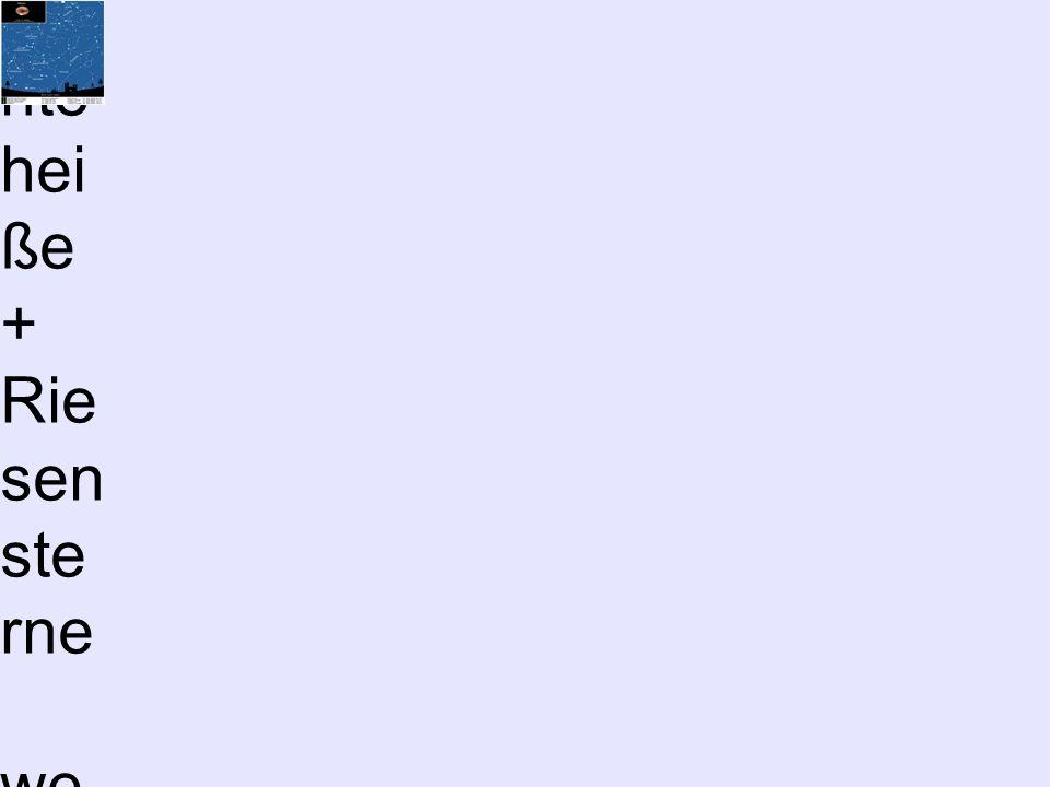 Riesen, Zwerge,...– sagenha fte Welt der Sterne Hertzspr ung- Russel- Diagram m (HRD) bzw.